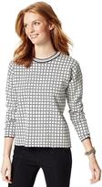 Tommy Hilfiger Final Sale-Windowpane Check Sweater