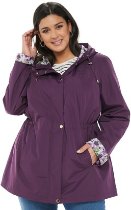 Details Plus Size Radiance Hooded Rain Jacket