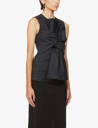 Givenchy Draped cotton-poplin vest