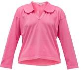 Comme des Garcons Peter Pan-collar Cotton-jersey Shirt - Womens - Pink