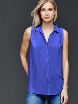 Gap Sleeveless shirred shirt