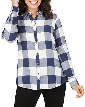 Foxcroft Rhea Buffalo-Plaid Shirt