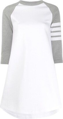 Thom Browne Stripe Detail Cotton Dress