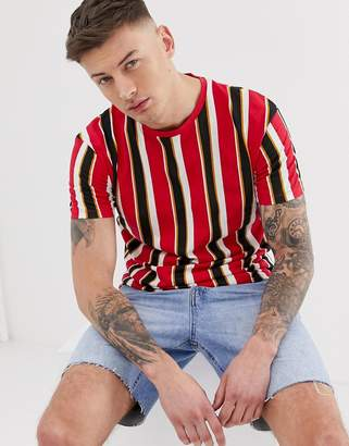Jack and Jones stripe t-shirt-Red