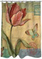Thumbprintz Sketchbook Floral Tulip Fabric Shower Curtain