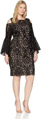 Xscape Evenings Plus Size Women's Short Cold Shoulder Dress