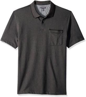 Van Heusen Men's Flex Short Sleeve Stretch Solid Polo Shirt