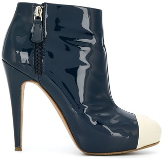 Chanel Pre Owned Contrasting Toe Cap Booties