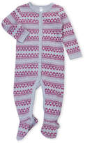 Petit Lem Newborn/Infant Girls) Fair Isle Thermal Footie
