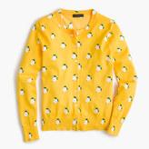 J.Crew Cotton Jackie cardigan sweater in lemon print