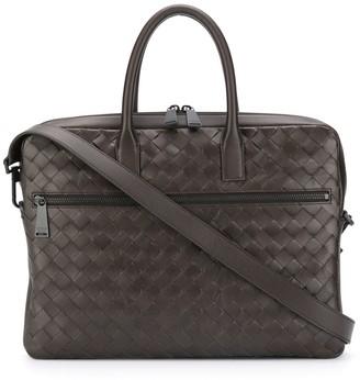 Bottega Veneta Intrecciato zipped briefcase