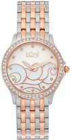 Burgi Women's Diamond & Crystal Stainless Steel Swiss Watch