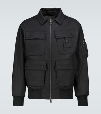 Lardini Wool-blend casual jacket