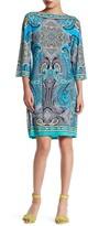 Sandra Darren Print Boatneck Dress