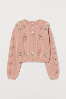 Embroidered-detail Sweater