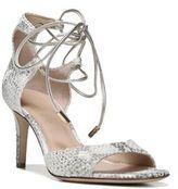 Diane von Furstenberg Rimini Metallic Python-Embossed Leather Lace-Up Sandals