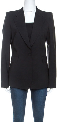 Roberto Cavalli Black Wool Tailored Blazer M