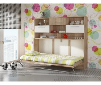 Latitude Run Ciel Storage Murphy Bed with Mattress