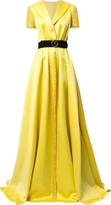 Saiid Kobeisy Wrap Front Evening Dress
