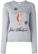 RED Valentino seahorse jumper