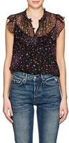 Barneys New York Women's Floral Silk Georgette Blouse