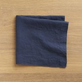 Crate & Barrel Helena Indigo Linen Dinner Napkin