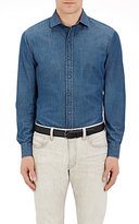 Ralph Lauren Black Label MEN'S CHAMBRAY BUTTON-FRONT SHIRT