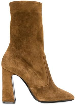 Saint Laurent High-Heel Ankle Boots