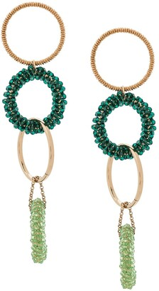 Jacquemus Beaded Hoop Earrings