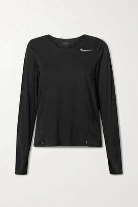 Nike City Sleek Printed Dri-fit Top - Black