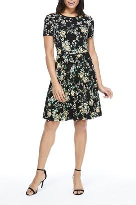 Maggy London Floral Print Jersey Dress (Petite)
