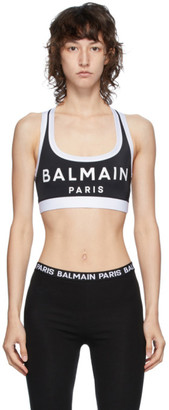 Balmain Black Lycra Sports Bra