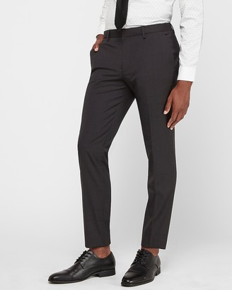 Express Extra Slim Charcoal Wrinkle-Resistant Performance Suit Pant