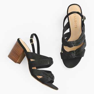 Talbots Beatrice Suede Knotted Sandals
