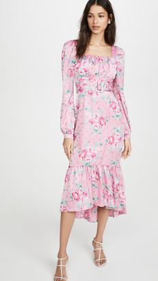WAYF Flirt Belted Bustier Midi Dress