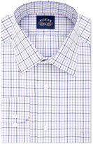 Eagle Men's Classic-Fit Non-Iron Stretch Collar Purple Check Dress Shirt