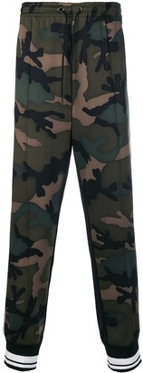 Valentino Camouflage Track Pants