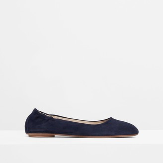 Theory Glove Ballet Flat in Suede