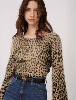 Maje Mohair animal print sweater