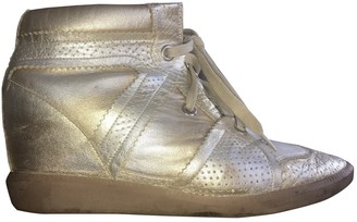 Isabel Marant Betty Gold Leather Trainers