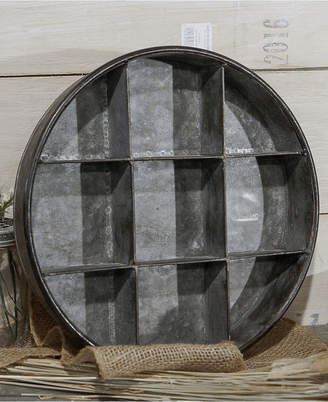 Vip Home & Garden Round Metal Tray with Dividers