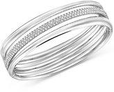 Swarovski Crystal Pave Stack-Look Bangle Bracelet