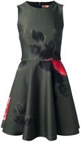 MSGM digital floral neoprene dress