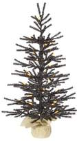Vickerman Pistol 2.5' Black Artificial Christmas Tree with 35 LED Orange Lights with Stand