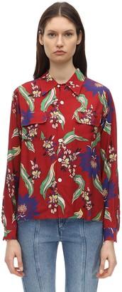 RE/DONE Printed Crepe Shirt