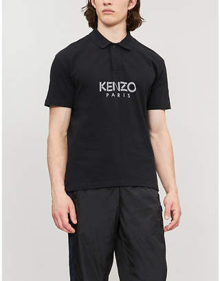 Kenzo Branded logo cotton-piqué polo shirt