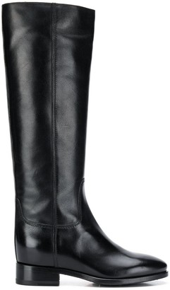 Santoni Stitched Panels Boots