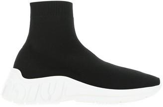 Miu Miu Logo Detail Sock Sneakers