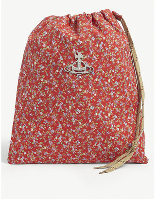 Vivienne Westwood Floral-print cotton drawstring wash bag