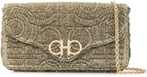 Salvatore Ferragamo mini Gancini metallic clutch